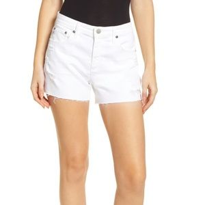 AG The Hailey White Shorts